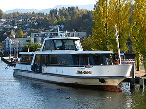 Zimmerberg - Zürichsee-Schifffahrtsgesellschaft motor ship Zimmerberg