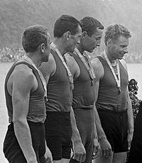 Zigmas Jukna, Antanas Bagdonavicius, Volodymyr Sterlik, Juozas Jagelavicius 1965.jpg