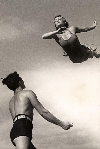 "Diving - Woman performing a  ""swallow dive"", 1937"