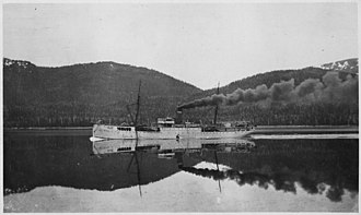 Alaska Communications System - U.S. cable ship Burnside in Wright Sound
