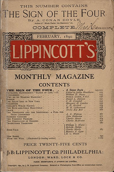 "File:""The Sign of the Four"" in Lippincott's Monthly Magazine (1890).jpg"