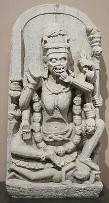 'Chamunda' from Rajasthan, India, 9th century, marble, Norton Simon Museum.JPG