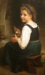 'Girl Eating Porridge' by William Adolphe Bouguereau, Cincinnati Art Museum.JPG