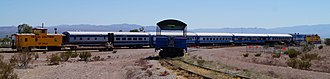 Nevada Southern Railroad Museum - Heritage railroad with Nevada Southern caboose UP25641