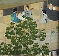 'The Singing Lesson' by Kawase Hasui, 1915, two-panel screen.jpg