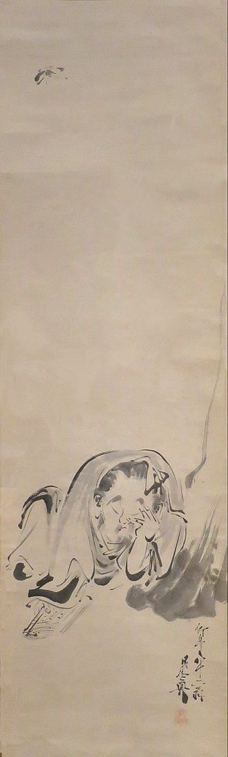 Zhuangzi (book) - Zhuangzi Dreaming of a Butterfly, by Japanese painter Shibata Zeshin (1888)