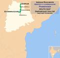 (Karimnagar - Sirpur Town) Passenger route map.png