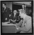 (Portrait of Carmen Lombardo, Rose Marie Lombardo, Guy Lombardo, and Don Rodney, Starlight Roof, Waldorf-Astoria, New York, N.Y., ca. July 1947) (LOC) (5061898879).jpg