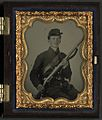 (Unidentified young soldier in Union uniform with musket) (LOC) (14378956980).jpg