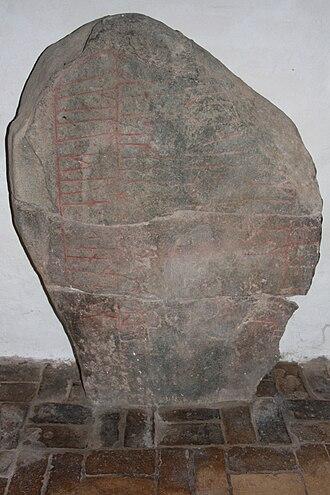 Ålum Runestones - DR 94, the Ålum 1 stone.