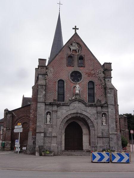 Étréaupont (Aisne) Église Saint-Martin, façade