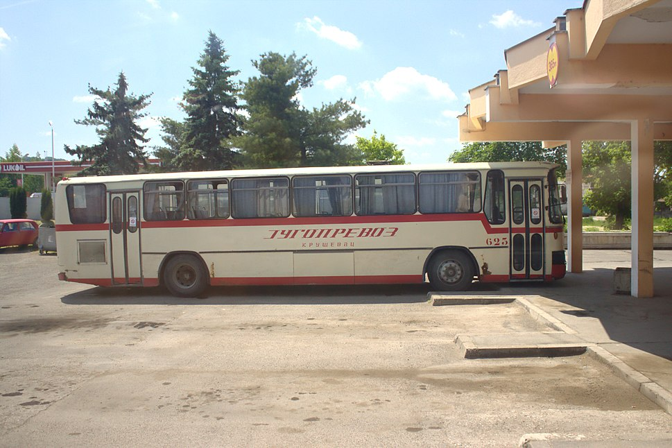 Ćićevac, autobusové nádraží, autobus