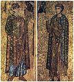Μονή Ξενοφώντος Αγίου Όρους Δύο φορητές ψηφιδωτές εικόνες με τον Άγιο Γεώργιο και τον Άγιο Δημήτριο, του 12ου αιώνα εργαστήριο τη.jpg