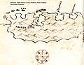 Χάρτης του Μλιέτ στην Κροατία - Antonio Millo - 1582-1591.jpg