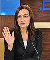 Наталія Соколенко під час прес-конференції в прес-центрі Дніпро-Пост, місто Дніпро, 2014.jpg