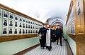После Божественной литургии епископ Феодорит (Тихонов) окропил помещения Академии святой водой.jpg