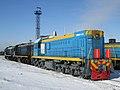 ТЭМ18ДМ-3123, Казахстан, Карагандинская область, депо КПТУ (Trainpix 128615).jpg