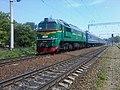 Тепловоз м62-1555 поезд хмельницкий кам подольский ларга - panoramio.jpg