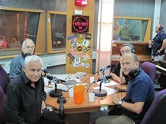 """Army Radio - Staff of """"Yesh im mi ledaber"""" (you've got someone to talk to) radio program"""