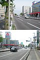 北海道道100号函館上磯線・北海道道347号赤川函館線交点(上:起点側から、下:終点側から).jpg