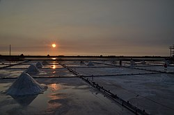 Coastal salt ponds in Beimen District