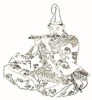 Nitta Yoshisada - Nitta Yoshisada in an image by Kikuchi Yōsai