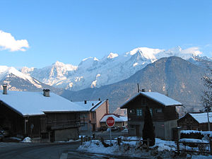 Passy, Haute-Savoie - A view of Mont Blanc from the village