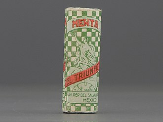 Mint (candy) - Package for mints from early 20th century, Mexico from the permanent collection of the Museo del Objeto del Objeto.