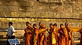 1. Religious Ceremony taking place at Dhamek Stupa, Sarnath.jpg