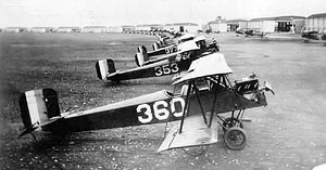 Flying Division, Air Training Command - 11th School Group Consolidated PT-1 trainers, Brooks Field, Texas, March 1926.
