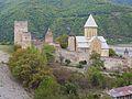 126 Vallée de l'Aragvi Ensemble ecclésiastique fortifié d'Anaouri XVIe.JPG