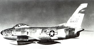 13th Fighter-Interceptor Squadron - North American F-86D Sabre 51-8437 at Selfridge AFB in December 1953