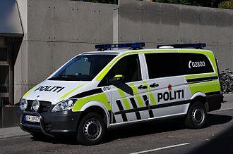 Norwegian Police Service - Mercedes-Benz Vito police transport van