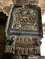 15th century Hazara Rama temple square mandapa damaged Vishnu relief, Hampi Hindu monuments Karnataka 2.jpg