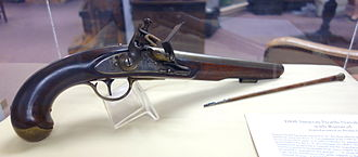 Simeon North - Simeon North naval pistol with ramrod, 1808