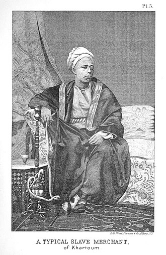 History of Sudan - A typical slave merchant of Khartoum, 1875