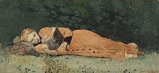 Death of the novel - Winslow Homer, The New Novel, 1877
