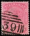 1878ca 1d Tasmania oval 39 Yv35 Mi30.jpg