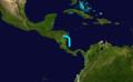 1909 Atlantic tropical storm 1 track.png