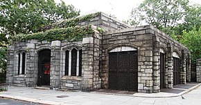 Stone building for the 190th Street subway station