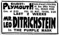1921 Plymouth theatre BostonGlobe 24January.png