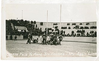 1922 Dixie Classic - Centre fails to gain six inches to score a touchdown before the end of the first half