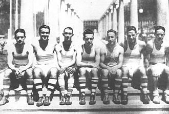 Club de Gimnasia y Esgrima La Plata - First basketball team of 1924.