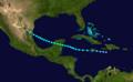 1928 Atlantic tropical storm 3 track.png