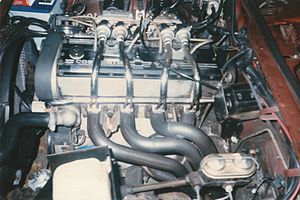Chevrolet Cosworth Vega - Cosworth Twin-Cam 16-valve  122 cu in (2.0 L) EFI I-4, 110 hp