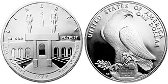 Modern United States commemorative coins - 1984 Olympic Coliseum Proof Dollar