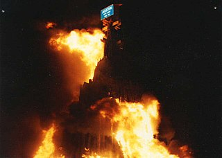Aggie Bonfire Former tradition at Texas A&M University