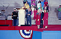 1989 Presidential Inaugration, George H. W. Bush, Opening Ceremonies, at Lincoln Memorial.jpg