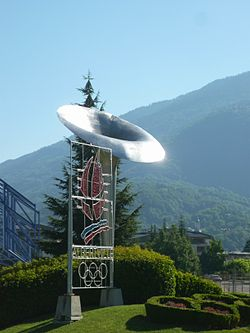 1992 Winter Olympics Albertville olympic cauldron.JPG