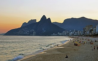 Ipanema - Sunset at Ipanema, with Vidigal in the background